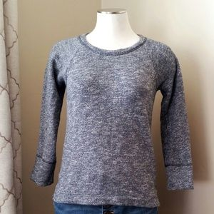 J. Crew Cotton 3/4 Sleeve Sweatshirt - XS